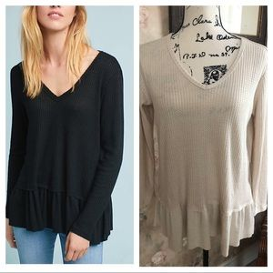 Tops - NWT THERMAL V NECK WITH PEPLUM